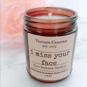 NEW I Miss Your Face Soy Candle Gift 9 ounces